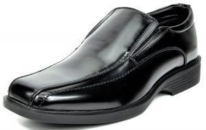 Bruno MARC Men's Formal Loafers Stretch Slip On Leather Lining Square Tip Modern Dress Shoes