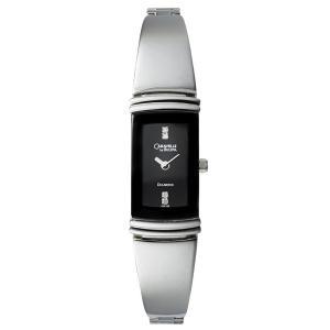 Caravelle Diamond Bangle Black Dial Women's Watch #43P100