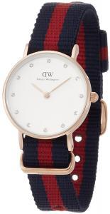 Daniel Wellington Women's 0905DW Oxford Stainless Steel Watch With Striped Nylon Band