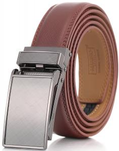 Marino Men's Genuine Leather Ratchet Dress Belt with Linxx Buckle, Enclosed in an Elegant Gift Box