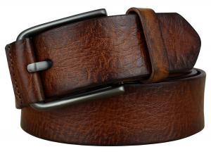 Bullko Men's Pin Buckle Casual Genuine Leather Belt