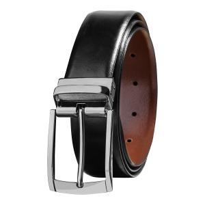 Savile Row Men's Top Grain Leather Reversible Belt - Classic & Fashion Designs