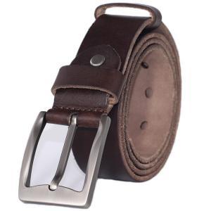 PAZARO Men's Super Soft Top Grain 100% Leather Belt 38mm Wide