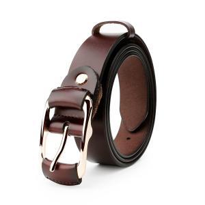 Whippy Fashion Genuine Leather Belt for Women Designer Waist Belt with Golden Buckle