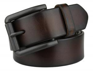 Bullko Men's Retro Pin Buckle 7059 Genuine Leather Belt