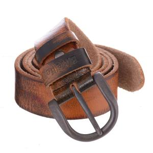 Buvelife Men's Leather Belt Vintage with Pin Buckle Casual