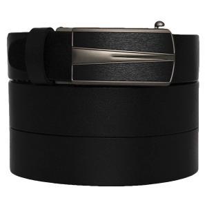 West Leathers Men's Dual-Use Buckle Top Grain Leather Belts Automatic Ratchet Belt