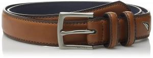Nautica Boys' Double Loop Belt with Stitch Detail