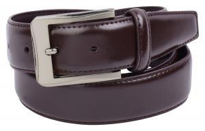 Mens Brown Leather Belt by Vellette