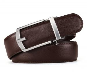 HW Zone Men's Leather Ratchet Dress Belt with Automatic Buckle(Shipped Fast)