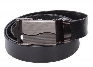 NO HOLES Men's Heavy Duty Durable Automatic Buckle PU Leather Belt