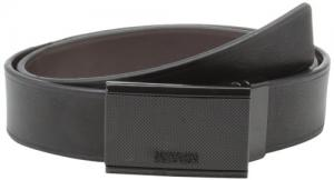 Kenneth Cole REACTION Men's Reversible Belt with Heat Crease