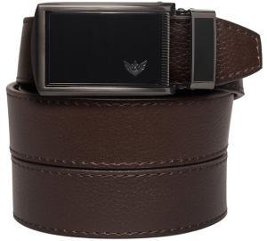 SlideBelts Men's Winged Black Leather Ratchet Belt - Custom Fit