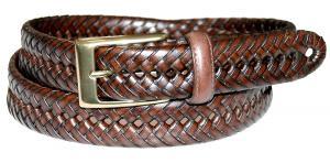 Dockers Men's 30mm Glazed Top Braided Belt