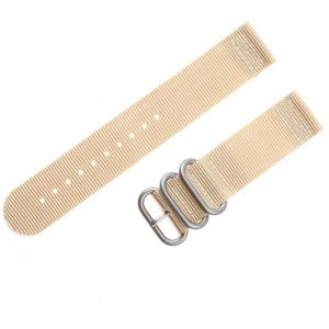 Adebena 20mm 2 Piece PVD Heavy Nato Nylon Watch bands Replacement Watch Strap- 3 rings