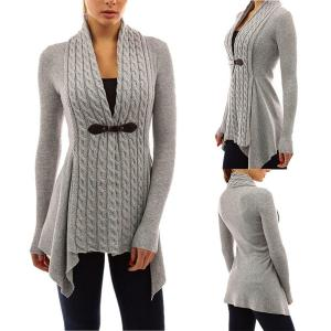 Women Cardigan,Haoricu Womens Open Front Long Sleeve Casual Knitted Sweater Cardigan Tops Shirt