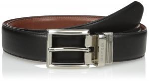 Tommy Hilfiger Men's Dress Reversible Belt with Polished Nickel Buckle
