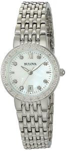 Bulova Women's Quartz Stainless Steel and Silver Plated Casual Watch(Model: 96R203)