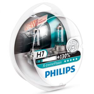 Philips X-treme Vision H7 12 V, 55 W Headlight Bulbs (Pack of 2)