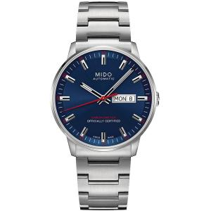 Mido M0214311104100 Commander Mens Watch - Blue Dial Stainless Steel Case Automatic Movement