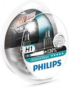 Philips X-treme Vision +130% Headlight Bulbs (Pack of 2) (H1 55W)