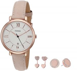 Fossil Jacqueline 3-Hand Leather Watch Set