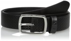 Armani Exchange Men's Rounded Buckle Leather Belt
