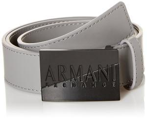Armani Exchange Men's Reversible Logo Buckle Leather Belt