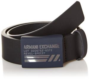 Armani Exchange Men's Utility Slide Buckle Leather Belt