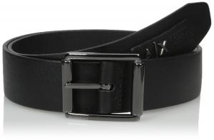 Armani Exchange Men's Classic Leather Belt With Logo Patch