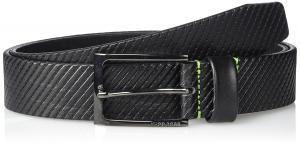 BOSS Green Men's Titching Leather Belt