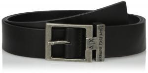 Armani Exchange Men's Logo Buckle Leather Belt
