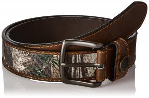 Real Tree Men's Stitched Belt with Xtra Camouflage and Shot Shell Ornament