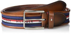 Tommy Hilfiger Men's Stripe Fabric Casual Belt