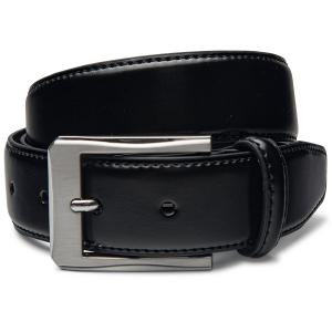 Mens Black Leather Belt By Velette - Various Styles to Choose From!