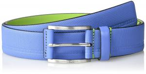 Boss Green Men's Tymos Leather Belt, Medium Blue, 80