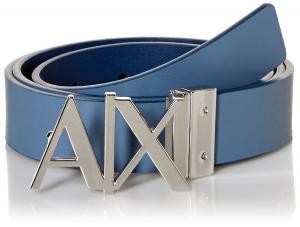 Armani Exchange Men's Ax Logo Buckle Hinge Belt