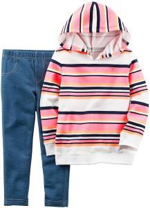 Carter's Girls' Stripe Sweater 2 Piece Set