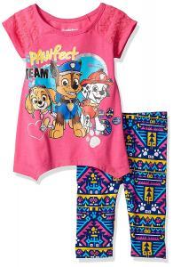 Nickelodeon Girls' 2 Piece Paw Patrol Tee and Legging Set