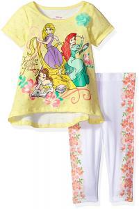 Disney Toddler Girls' 2 Piece Princesses Legging Set