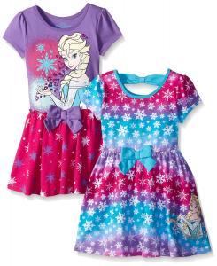 Disney Girls' 2 Pack Frozen Elsa Dresses