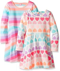 The Children's Place Toddler Girls' Skater Dress (Pack of 2)