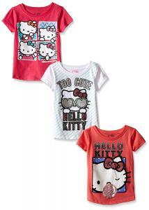 Hello Kitty Girls' Value Pack T-Shirt Shirts