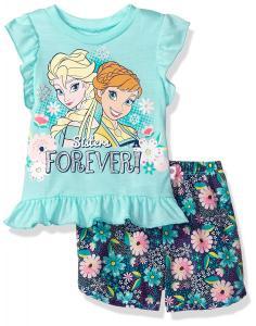 Disney Toddler Girls' Frozen Woven Short Set