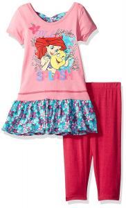 Disney Girls' 2 Piece Ariel the Little Mermaid Legging Set