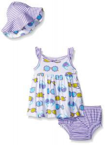 Gerber Girls' Baby 3 Piece Dress Set