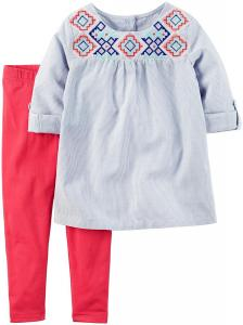 Carter's Girls' 2 Piece Printed Shirt Set