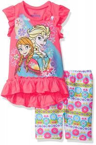 Disney Toddler Girls' Frozen 3 Piece Bike Short Set