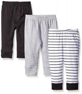 Luvable Friends Unisex 3 Pack Tapered Ankle Pants