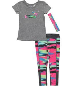 Puma Kids Womens Pants and Tee Set (Big Kids)